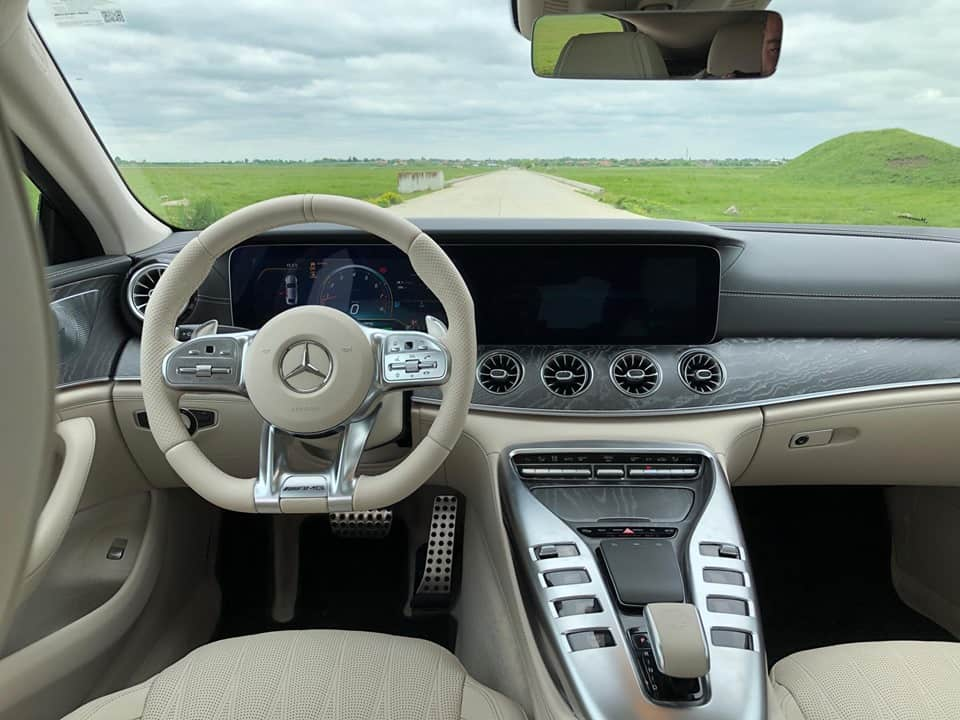 mercedes amg gt4-door interior